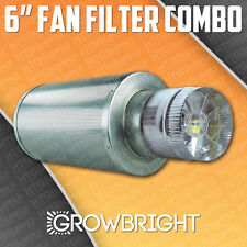 """6"""" x 18"""" CARBON AIR FILTER PRO COMBO SIX inch Duct FAN INLINE EXHAUST hydroponic"""
