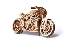 Wood Trick Motorcycle DMS Bike Mechanical Wooden 3D Puzzle Model DIY Kit Gift