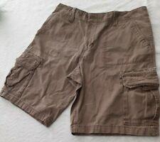 "Vintage Men's Roebuck & Co Beige Messenger Cargo Shorts 3415"" Longer Inseam"
