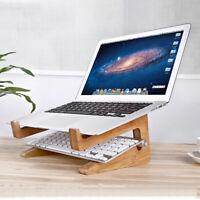 Wooden Detachable Desk Stand Holder Mount For Macbook Tablet PC Laptop Notebook