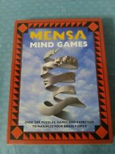 Mensa Mind Games Over 200 Puzzles, Games & Exercises Brain Power Opened