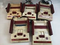 Nintendo original  Famicon family computer console NES lot of 5 uncheck JAPAN