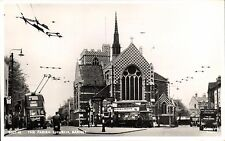 Barnet. The Parish Church # BNT 18by Frith. Trolley Bus.
