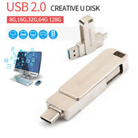 8/16/32/64 GB USB 3.0 + Type-C USB Flash Drives Memory Stick U Disk for PC Typec