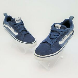 VANS Off The Wall OTW Navy Blue White Casual Sneaker Shoes Youth Kids Size 1