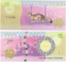 Bir Tawil - Egypt - 10 Pound 2014 NEUF UNC Fantasy Banknote - Fox