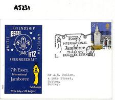 AJ231 1972 GB SCOUTING *Hockley Essex* International Jamboree Postmark Cover