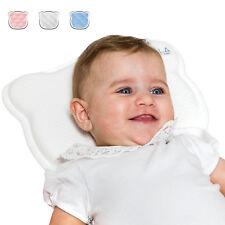 Cuscino Neonato e 2 Federe Memory Foam per Prevenzione e Cura della Testa Piatta
