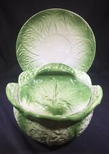 Vintage Portuguese Cabbage Tureen And Serving Plate