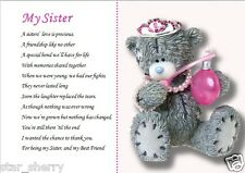 MY SISTER  (laminated gift)  **POEM WRITTEN BY SELLER**