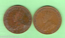 #D55. TWO 1926 HALFPENNY COINS WITH SAME FAULT MARK