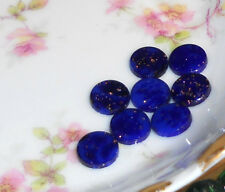 Vintage Glass Cabochons Glitter Cobalt blue Midnight 10mm Round Night Stars #174
