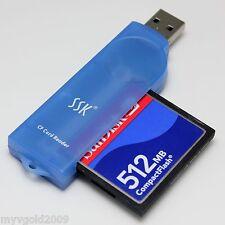 SSK HI-Speed USB 2.0 CF Card Reader, CompactFlash Card Reader,SCRS028