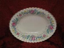 """Syracuse Lilac Rose, Multicolored Floral Rim: Oval Vegetable Bowl, 9 3/4"""""""