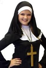 RELIGIOUS/CLASSIC NUN HEADDRESS, COLLAR & CROSS SET one size fits all