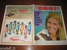 RIVISTA OGGI 1962/39=GIOVANNA MANFREDI=EDDA CIANO=CATHERINE SPAAK=MANSFIELD J.=