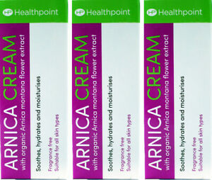 Healthpoint Arnica Cream 50ml X3 TRIPLE PACK - Natural Herbal Remedy First Aid