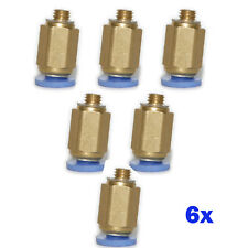 6pcs Push In Fittings 4mm OD- 5mm PT Thread One Touch to Connect Straight Male