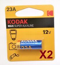 Pila KODAK MAX 23A 12V - Super Alcalina - Pila Mando Garaje - Pack De 2 Unidades