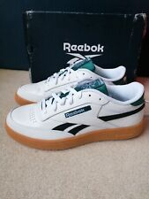 Reebok Classic Club C Revenge White Green Navy Blue Leather gum sole Uk8 NEW...