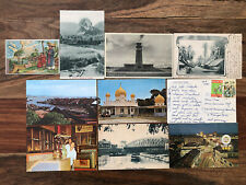 10 X STRAITS SETTLEMENTS OLD POSTCARD LOT COLLECTION SINGAPORE !!