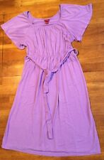 Merona Womens Empire Waist Short Sleeve Shirt Dress Size Small Purple EUC