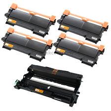 4 Toner+Trommel für Brother TN2220 DR2200 HL2240 HL2250DN MFC7360N MFC7460DN
