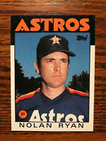 1986 Topps #100 Nolan Ryan Baseball Card Houston Astros HOF Raw