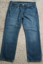    Mens Jeans size 38 x 30 Levis Strauss 514 straight fit denim blue male