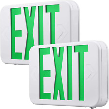 Green Led Exit Sign With Battery Backup Ul Listed Emergency Light Ac 120v277v