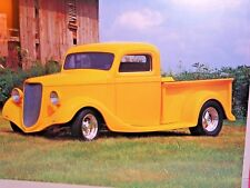 ART POSTER Vintage 1933 Yellow Ford Pickup TRUCK Old Barn Harley Koopman Photo