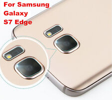 New Back Camera Lens + Flash Tempered Glass Protector For Samsung Galaxy S7 Edge