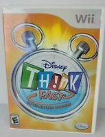 Disney Think Fast Nintendo Wii 2008 Complete