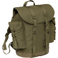 Brandit Vintage Bw Duits Jacht- Backpack Katoenen Doek Militaire Rugzak Olive