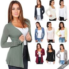 Thin Waist Length Viscose Button Women's Jumpers & Cardigans