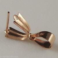 18K Rose Gold Pendant Clasp Hook / Top Big Size