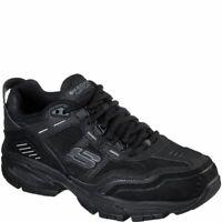Skechers Black Extra Wide Fit Shoes Men Memory Foam Sporty Athletic Train 237067