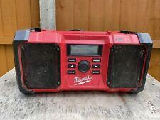 Milwaukee M18JSR  18v AC Power Job Site Radio DAB - Naked - FAULTY