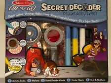 Melissa and Doug Kids Secret Decoder Deluxe Activity Set Detective in Training!