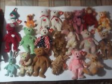Beany Babies 21 regular size, 17, Beany Babies small and other stuffed toys ect.