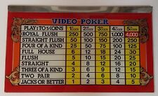 THE VINTAGE VIDEO POKER SLOT MACHINE GLASS