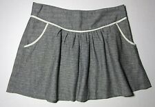 Urban Outfitters Lux Gray & Ivory Tweed Skirt Size 6 Linen Cotton Blend