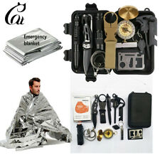13 in 1 Outdoor Emergency Survival Gear Kit SOS EDC Camping Tactical Tools Case