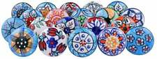 Colorful Knobs 20 Handpainted Knobs Ceramic knobs Door knob Drawer knobs Cabinet