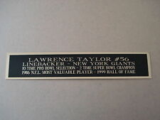 Lawrence Taylor Giants Nameplate For A Football Helmet Display Case 1.5 X 6
