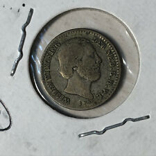 1889 Netherlands 10 Cents Silver Coin VF Condition