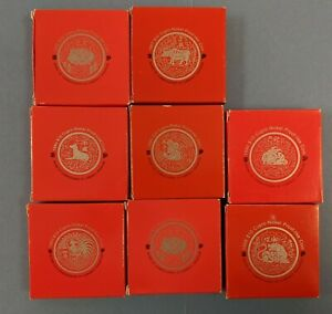 1993 - 99 Singapore $10 Proof-Like Chinese Zodiac Coins - Lot of 8