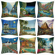"""18"""" Fantasy Home Throw Pillow Covers Scenery Cushion Cases Outdoor Decorative"""