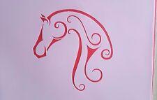 Schablonen 1216 Pferd Wandtattoos Vintage- Look Stanzschablonen Shabby Stencil