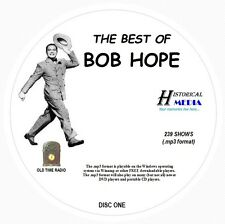 BEST OF BOB HOPE - 239 Shows Old Time Radio In MP3 Format OTR On 3 CDs